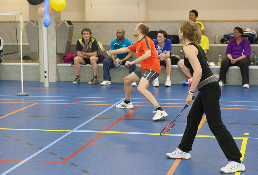 Badminton gemengd dubbel