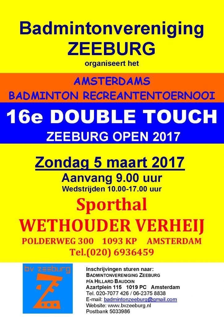 Double Touch 2017 badminton tournooi